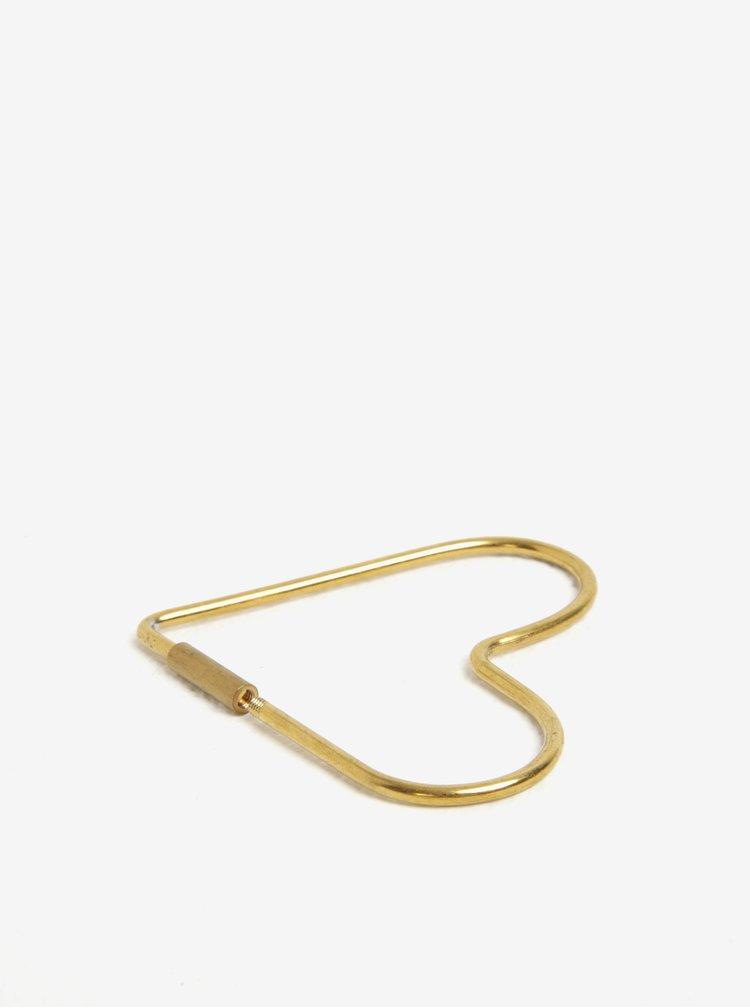 Kroužek na klíče ve zlaté barvě ve tvaru srdce Donkey Hello Love