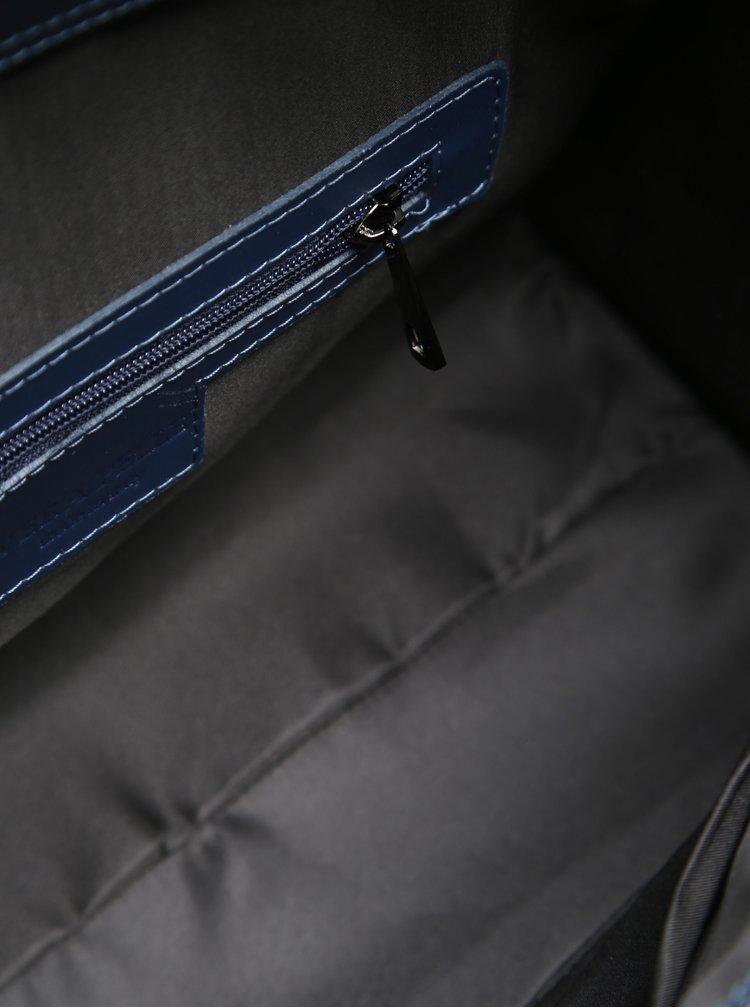 Tmavě modrá dámská kožená kabelka do ruky KARA