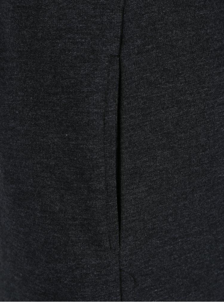 Tmavě šedé žíhané mikinové šaty s vysokým límcem Ragwear Carla Organic