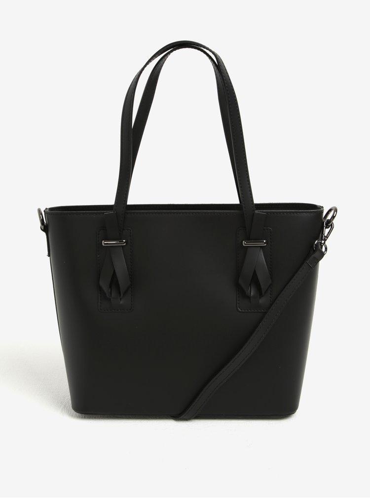 Geanta neagra crossbody din piele naturala pentru femei - KARA