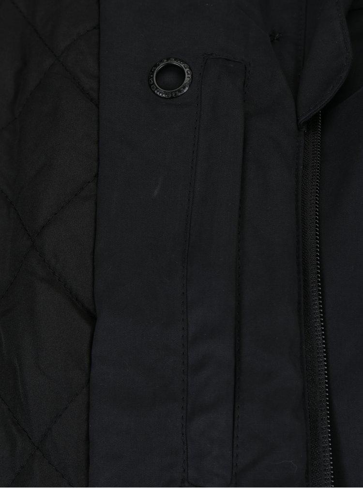 Černá dámská bunda s kapucí a knoflíky Ragwear Lynx