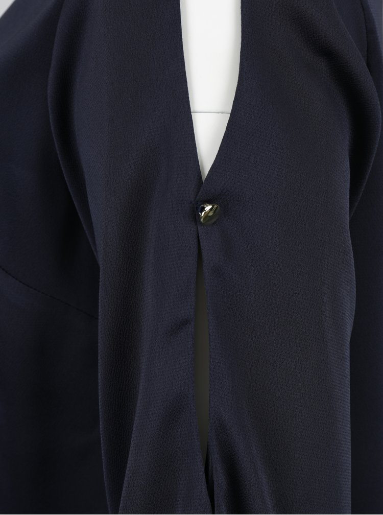 Tmavě modrá halenka s dlouhým rukávem Dorothy Perkins Curve
