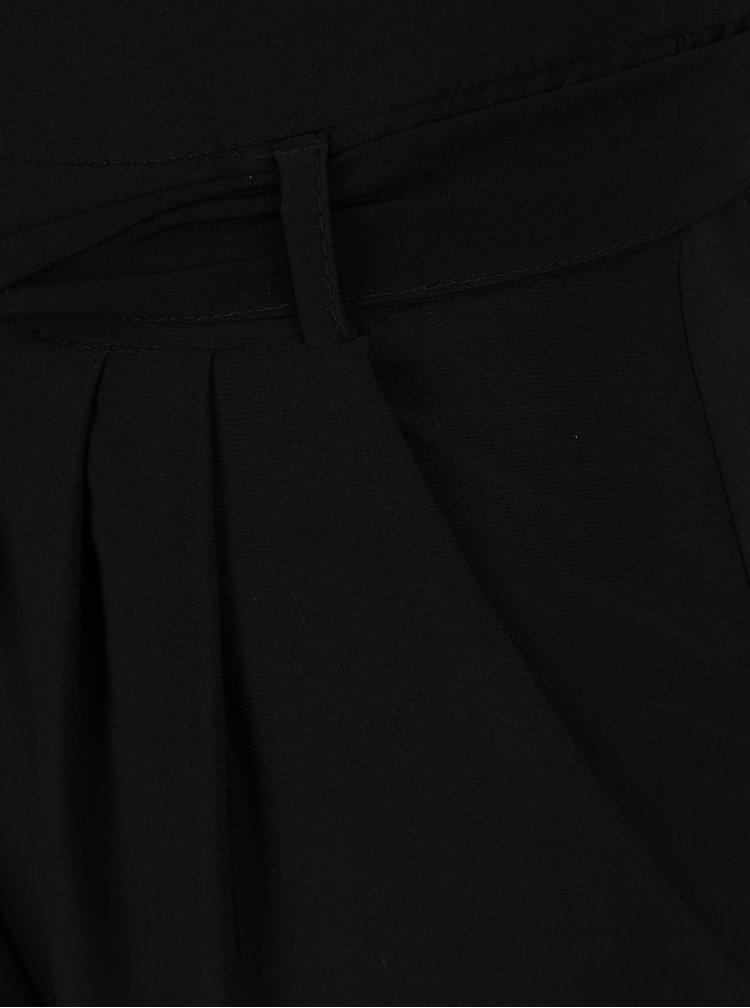 Černý overal s krátkým rukávem Dorothy Perkins