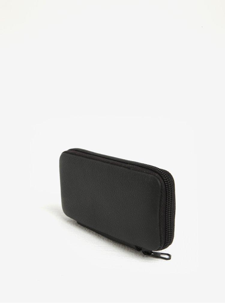 Černý pánský kožený set na manikúru KARA Solingen