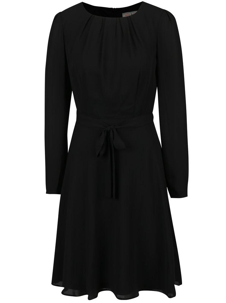 Černé šaty s dlouhým rukávem Billie & Blossom
