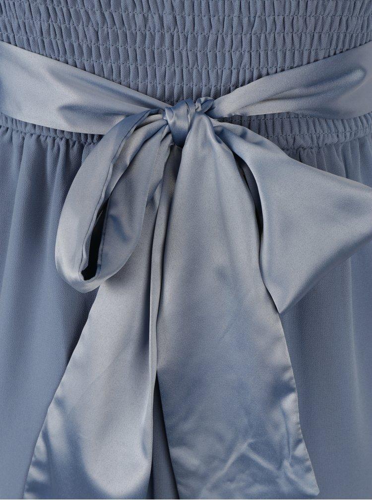 Modré maxišaty se zavazováním v pase Dorothy Perkins