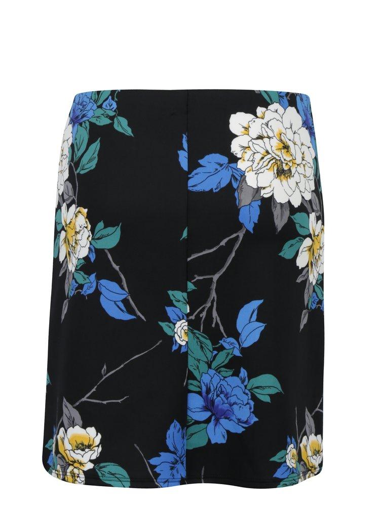 Černá květovaná sukně Dorothy Perkins Petite