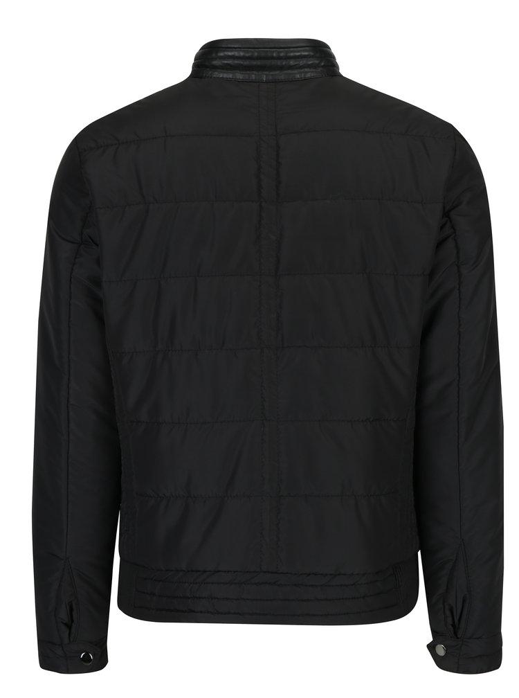 Černá pánská kožená bunda KARA Jason