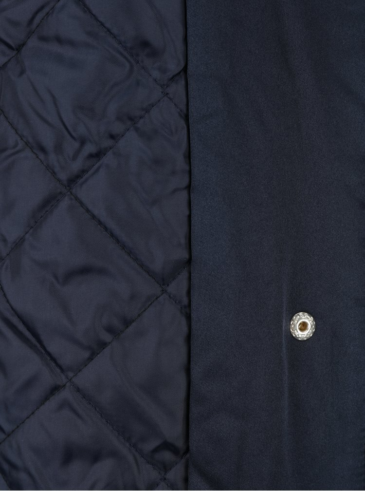 Tmavě modrá bunda s kapucí Dorothy Perkins Petite