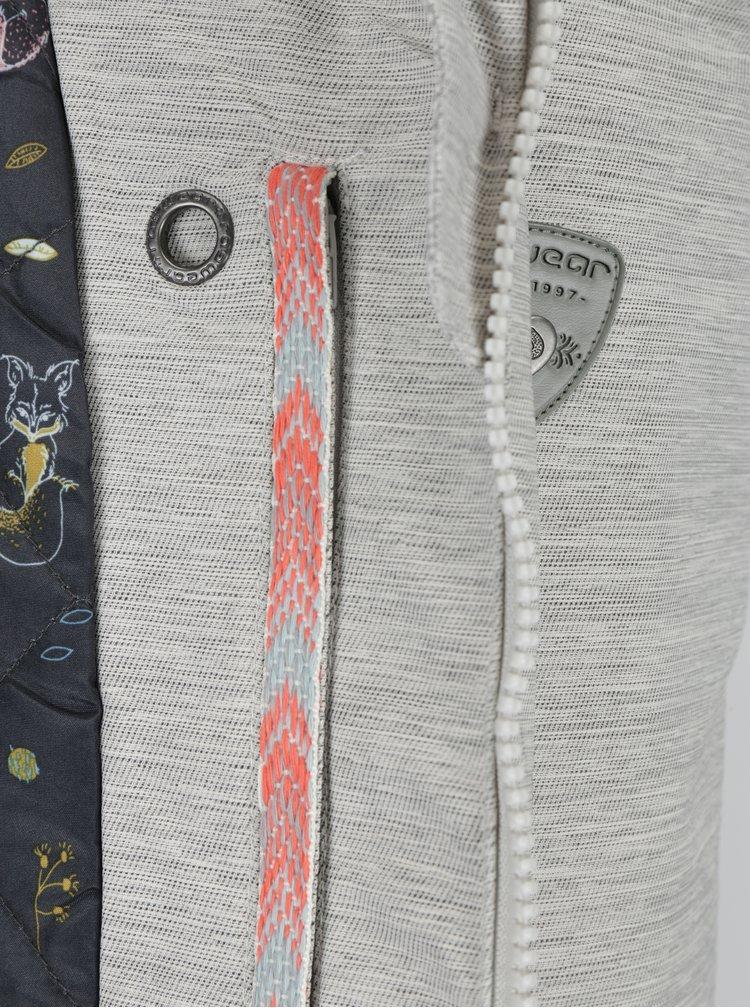 Světle šedá dámská voděodolná parka s umělým kožíškem Ragwear Jewel