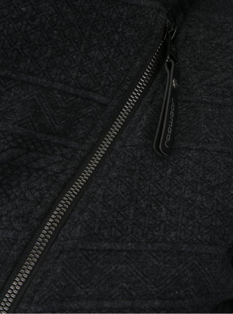 Jacheta gri inchis cu guler inalt si model geometric Ragwear Swing