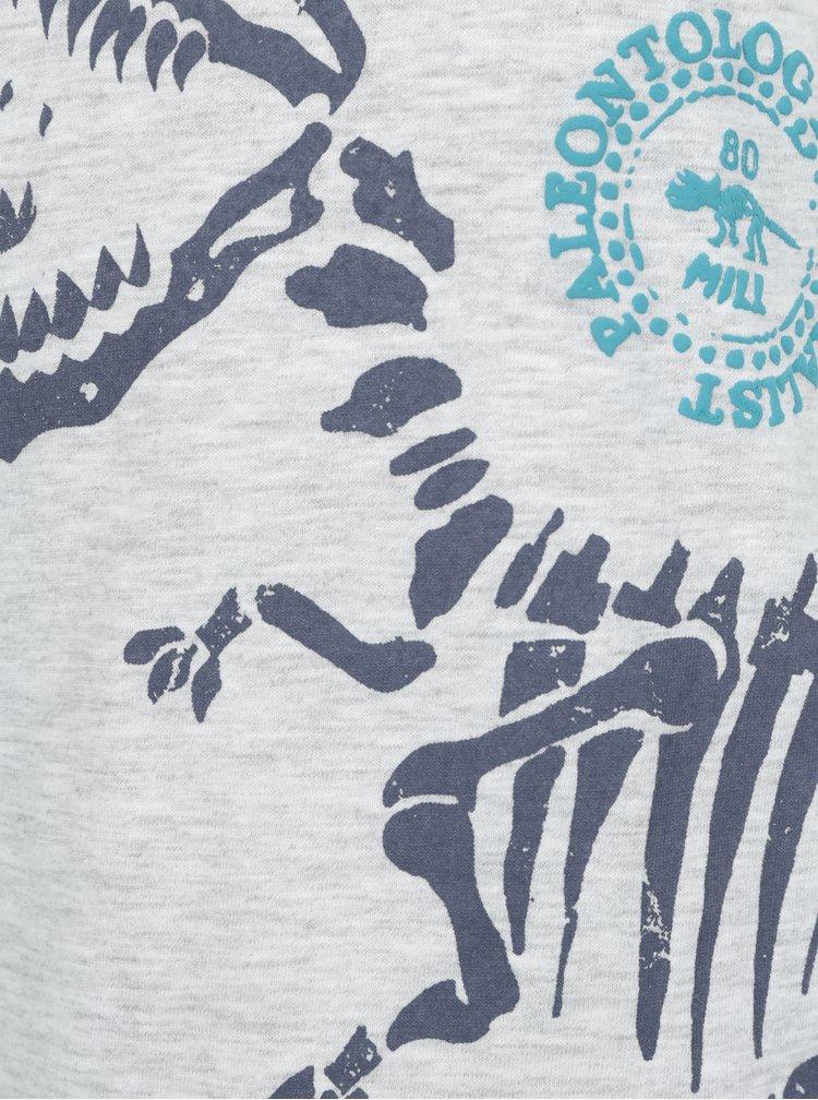 Šedé klučičí tričko s potiskem Blue Seven