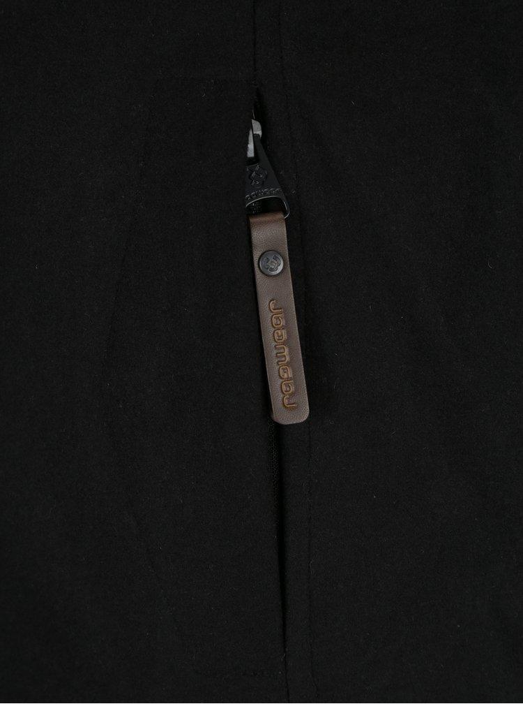 Černá dámská zimní bunda s umělým kožíškem Ragwear Winny