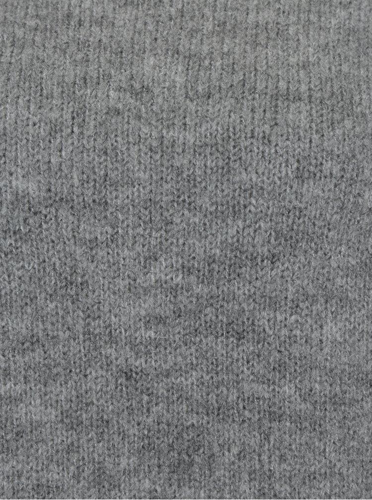 Šedý oversize žíhaný svetr VILA Disa