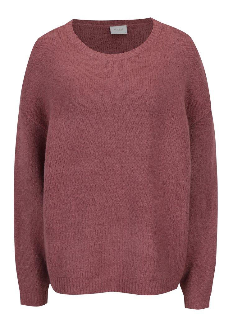 Staroružový oversize melírovaný sveter VILA Disa