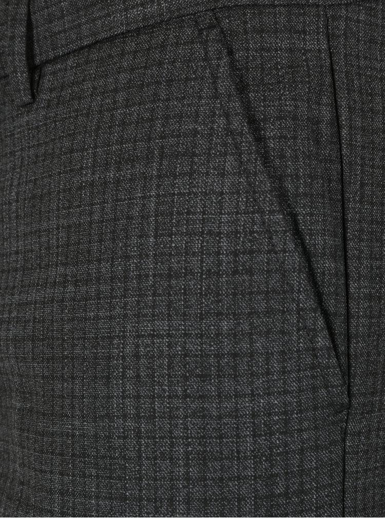Šedé formální skinny kalhoty Selected Homme Math