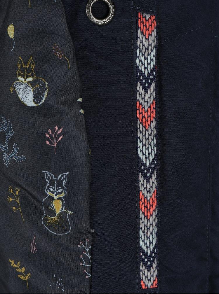 Tmavě modrá dámská zimní bunda Ragwear Monade