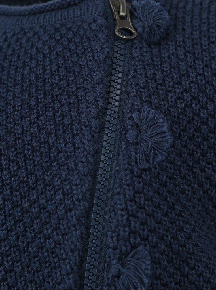 Tmavě modrý holčičí kardigan na zip Blue Seven