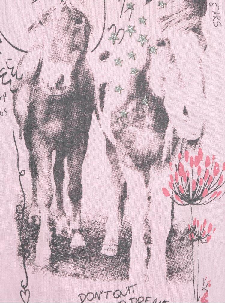 Růžová holčičí mikina s potiskem Blue Seven