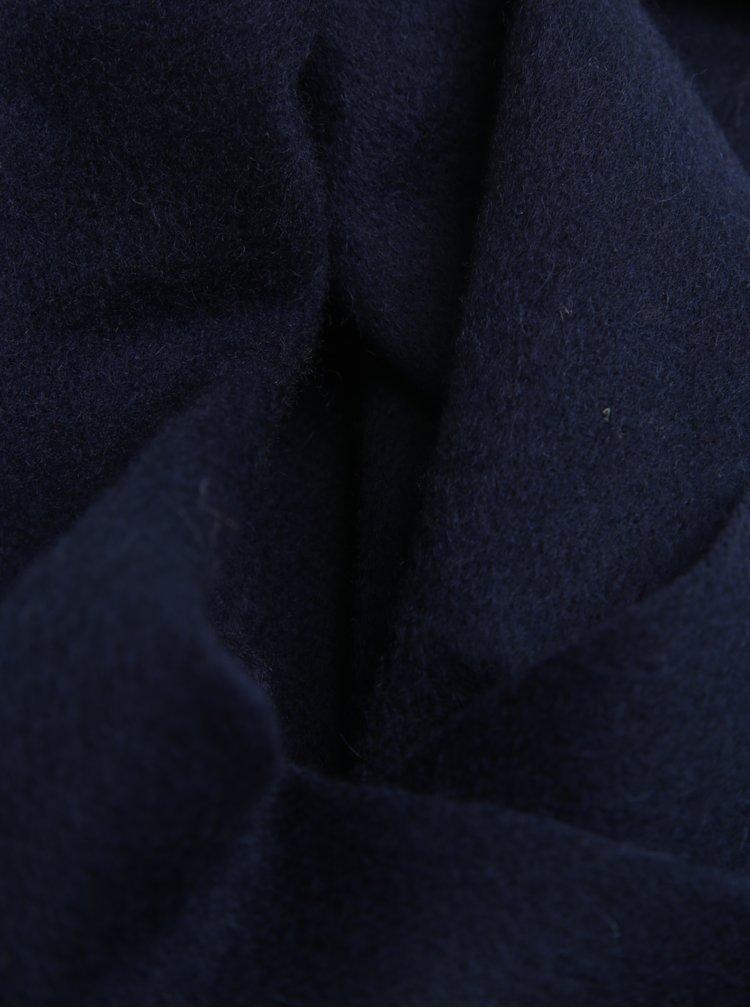 Tmavě modrá vlněná šála Selected Homme Tope