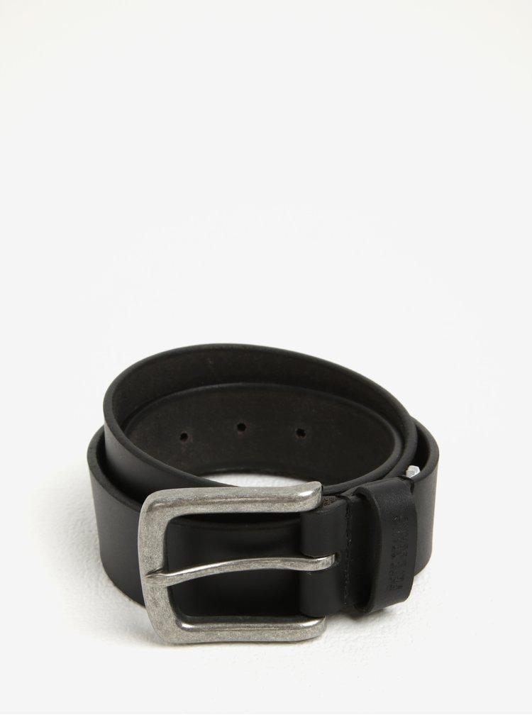 Černý pánský kožený pásek Pepe Jeans New Balkio