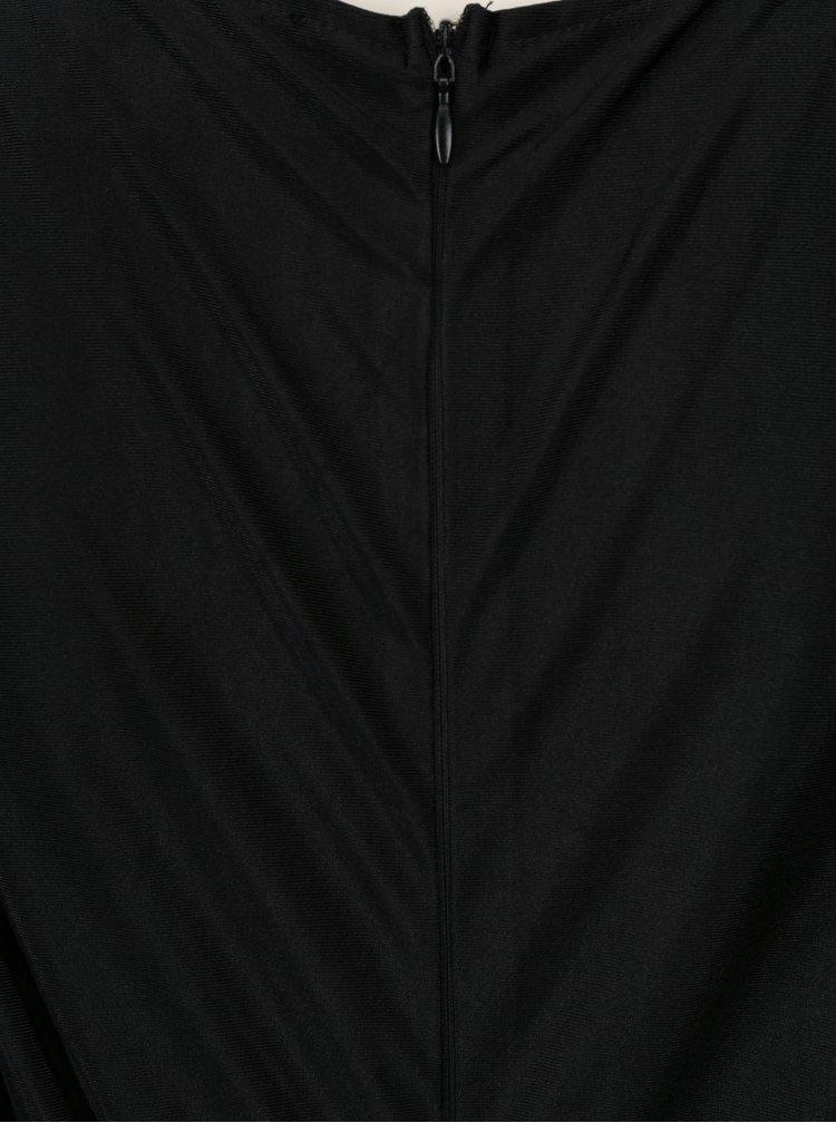 Černé pouzdrové šaty s řasením AX Paris