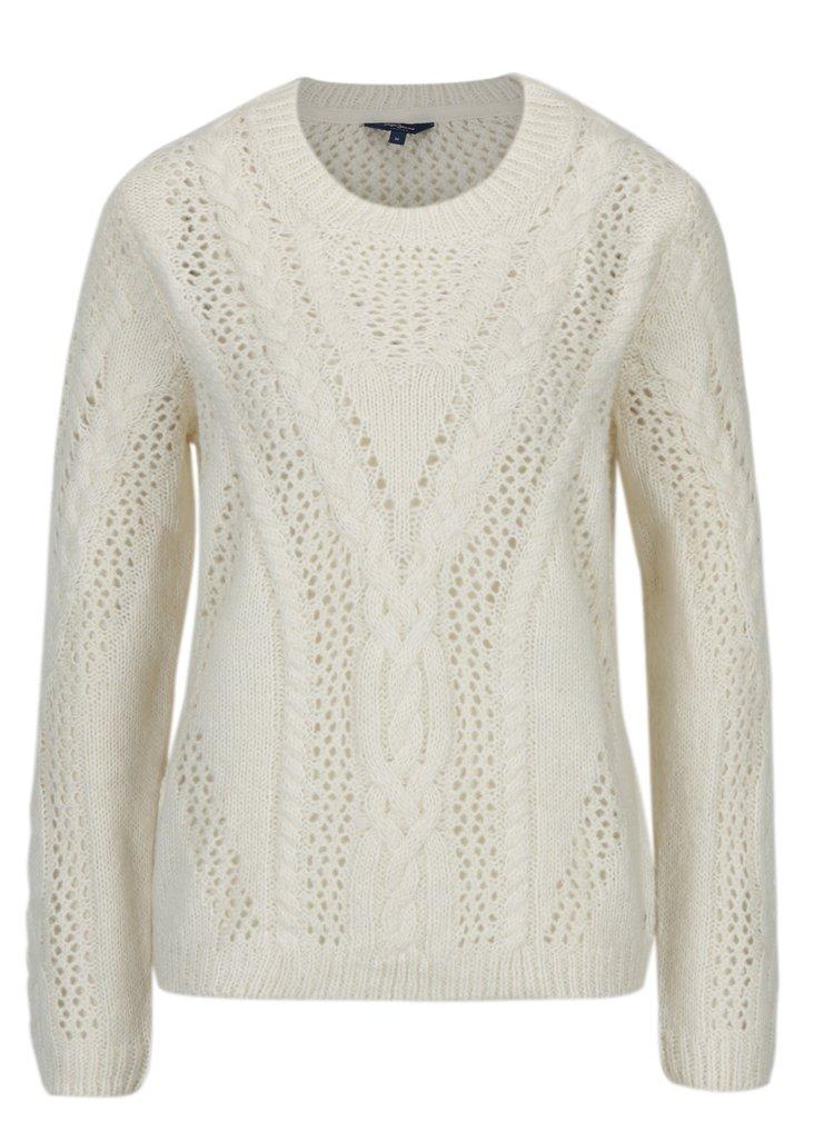 Krémový dámský svetr s příměsí vlny Pepe Jeans Ramona