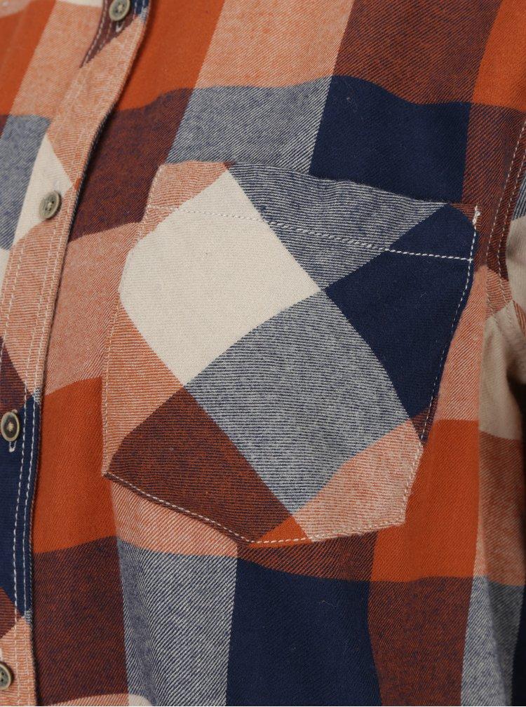 Modro-cihlová dámská kostkovaná košile Pepe Jeans Autumn
