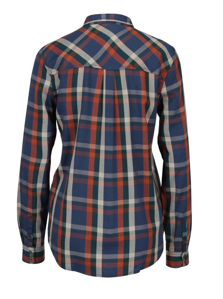 Camasa in carouri bleumarin & caramiziu pentru femei - Pepe Jeans Petra