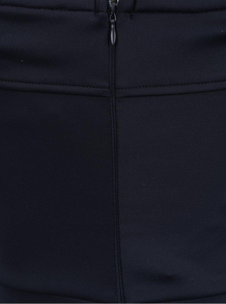 Tmavě modré šaty s krajkovými detaily a rozparkem AX Paris