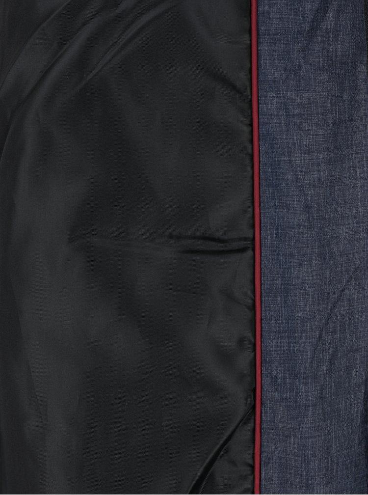 Tmavě modrý zimní prošívaný kabát s umělou kožešinou Haily´s Anette