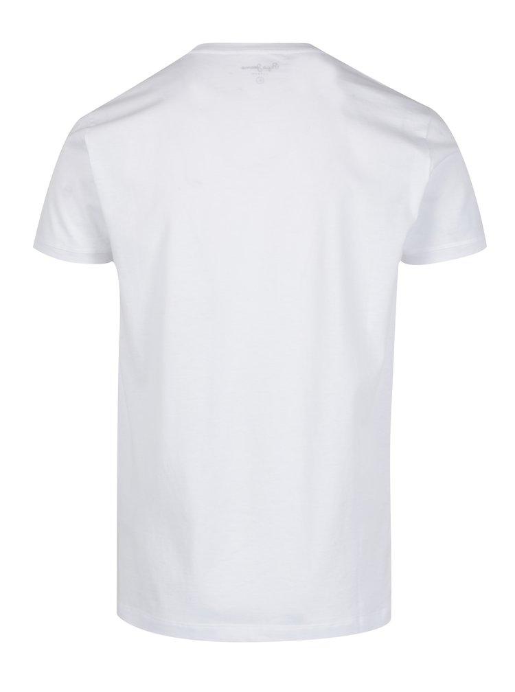 Tricou alb din bumbac cu logo pentru barbati - Pepe Jeans Goodge