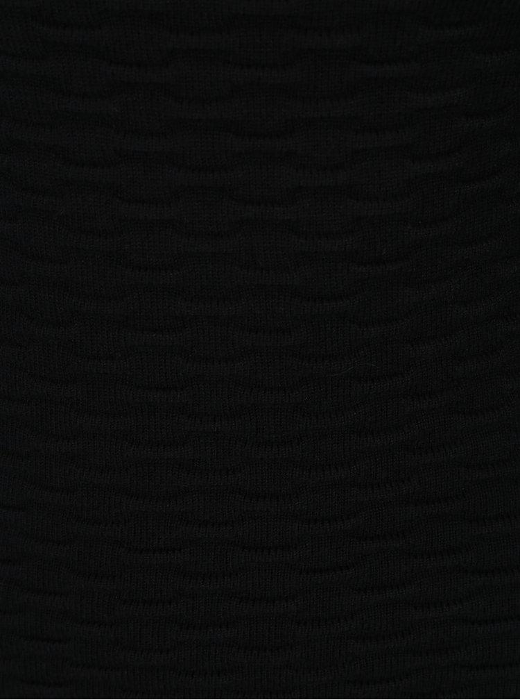 Černé pouzdrové šaty s 3/4 rukávy Fever London Valentina