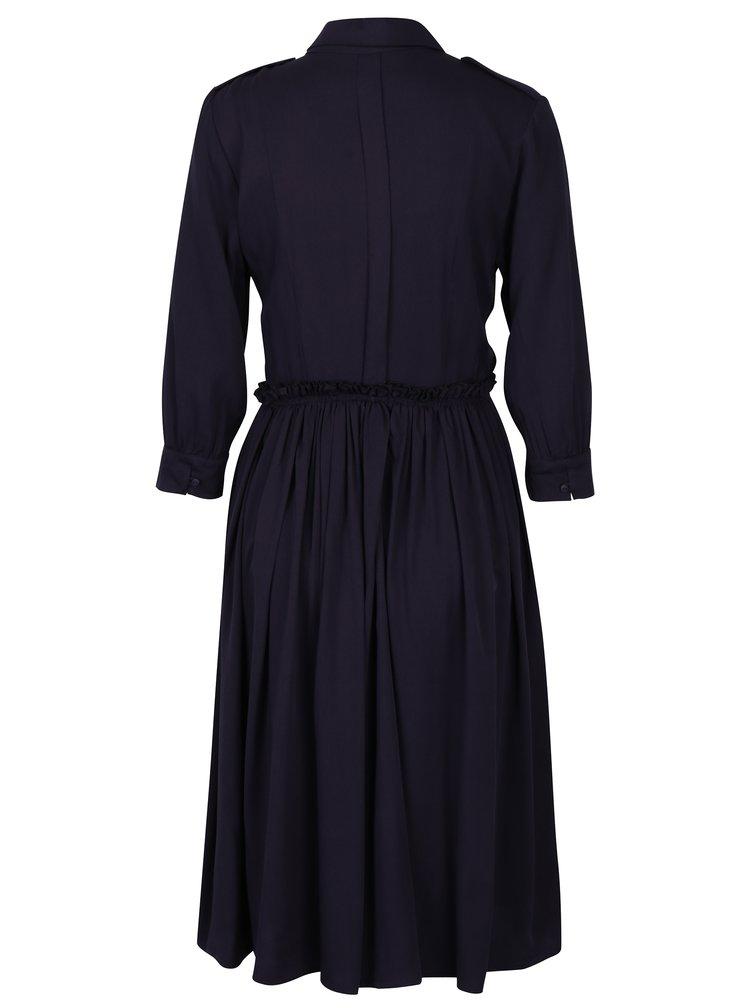 Tmavě fialové košilové šaty Fever London Margot