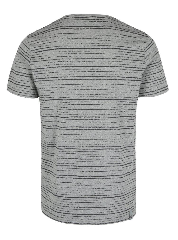 Tricou gri deschis & negru melanj cu print in dungi - Ragwear Skywatch