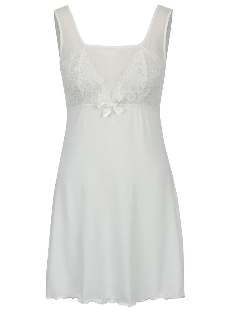 Krémová noční košilka s průsvitnými detaily Eldar Pearl