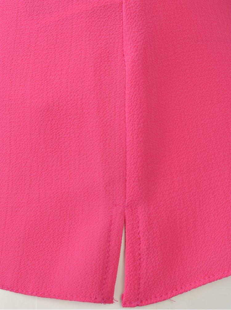Růžová halenka s řasením v dekoltu Billie & Blossom