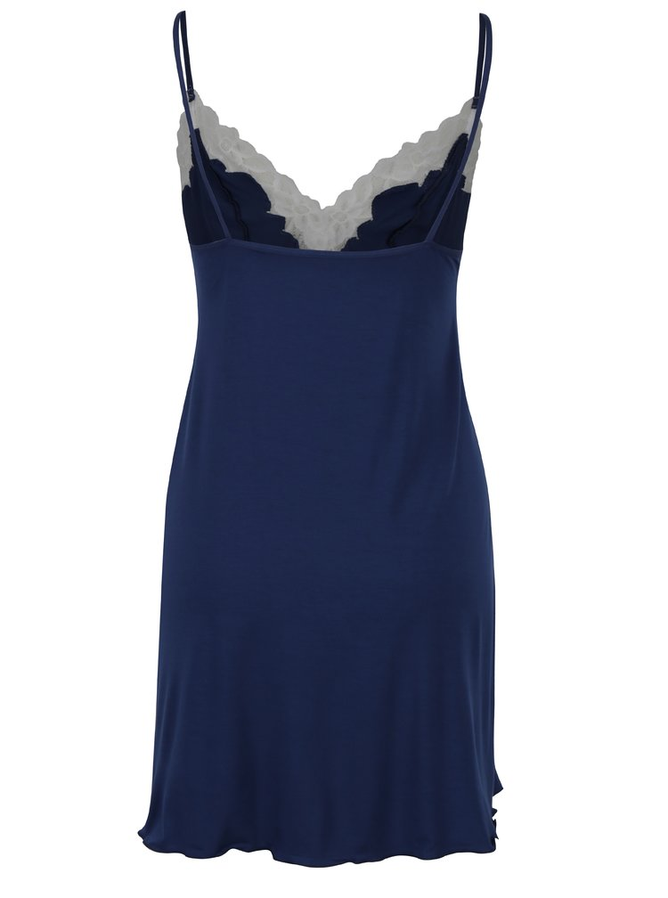 Tmavě modrá noční košilka s krajkovými detaily Eldar Roma