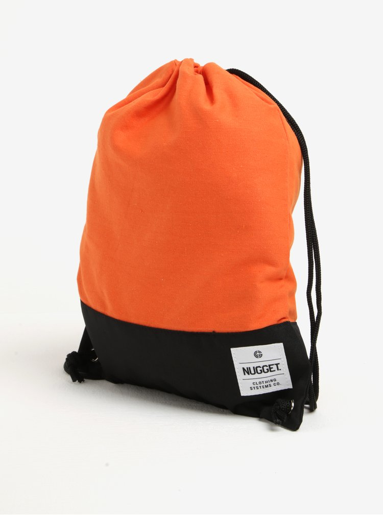Rucsac oranj - negru cu snur ajustabil - NUGGET Hype 2