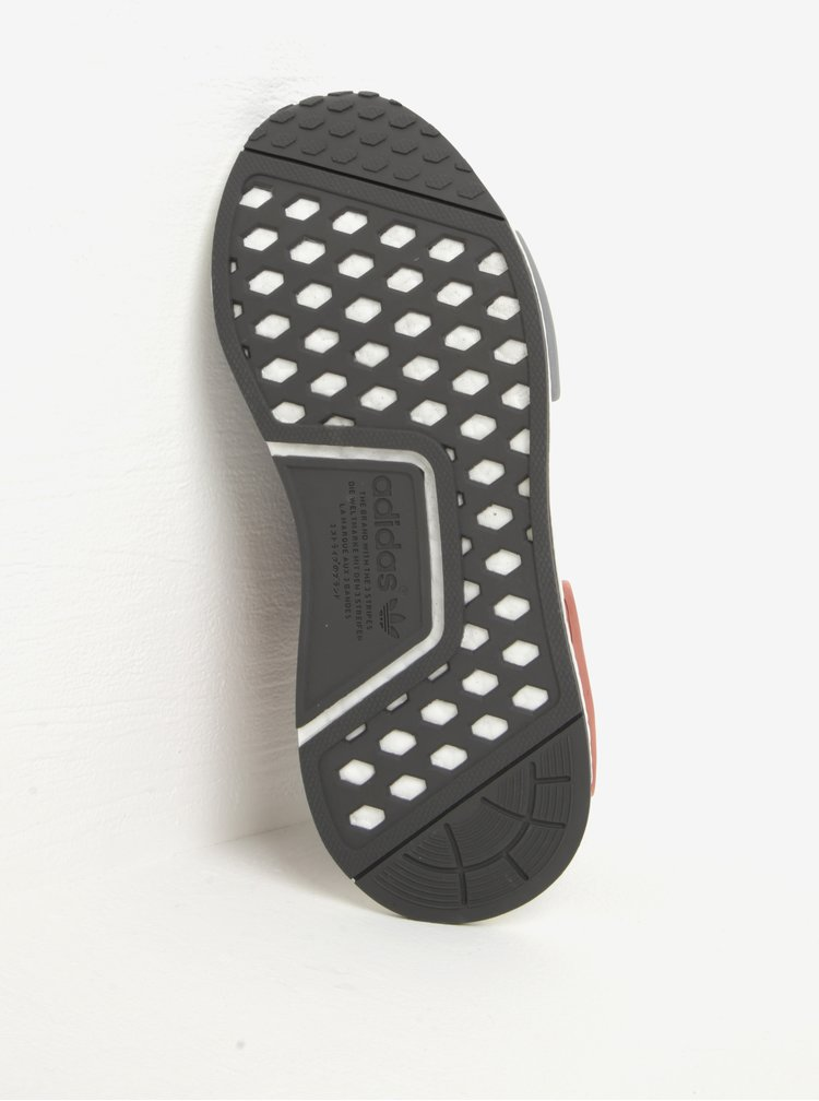 Tmavě šedé dámské žíhané tenisky adidas Originals NMD R1