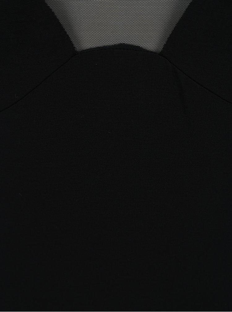 Camasa neagra de noapte cu snur la decolteu Eldar Helen