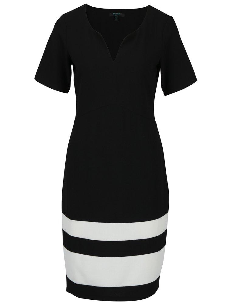 Černé šaty s pruhy Fever London Winona