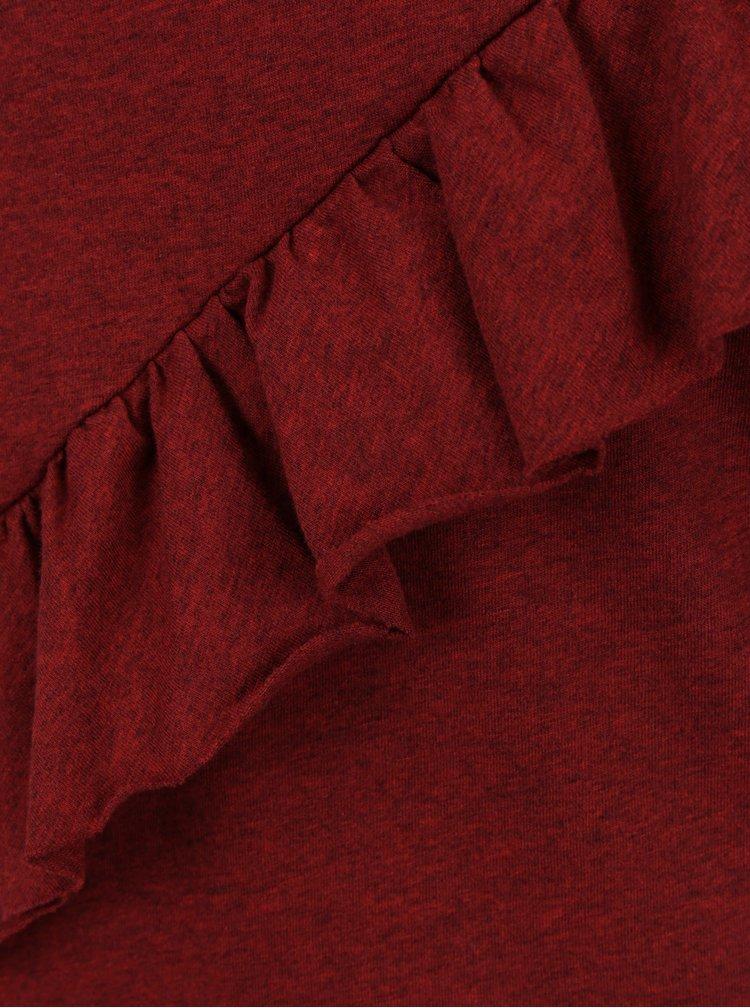Bluza caramizie cu volan transversal discret - Rich & Eoyal