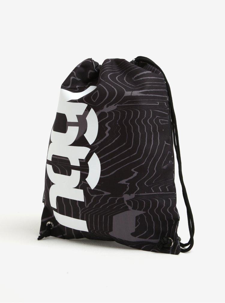 Rucsac negru cu print si logo - NUGGET Hype 2