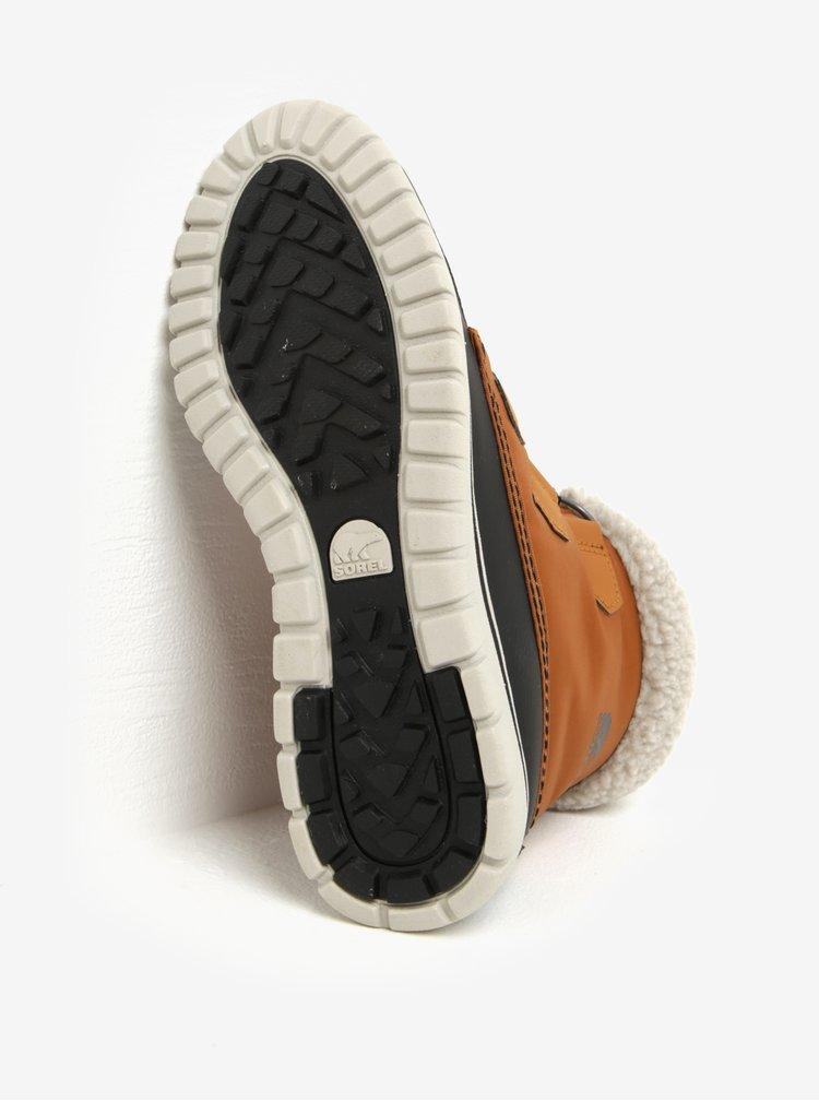 Ghete impermeabile maro & negru cu blana artificiala pentru femei - SOREL