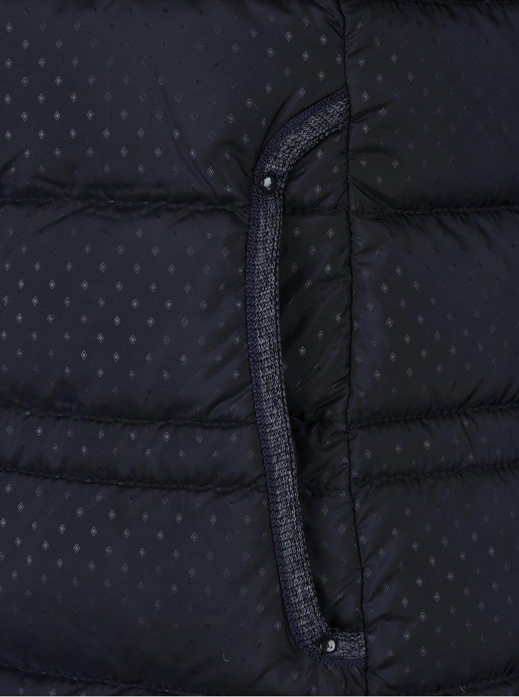 Vesta matlasata bleumarin cu model delicat pentru femei s.Oliver