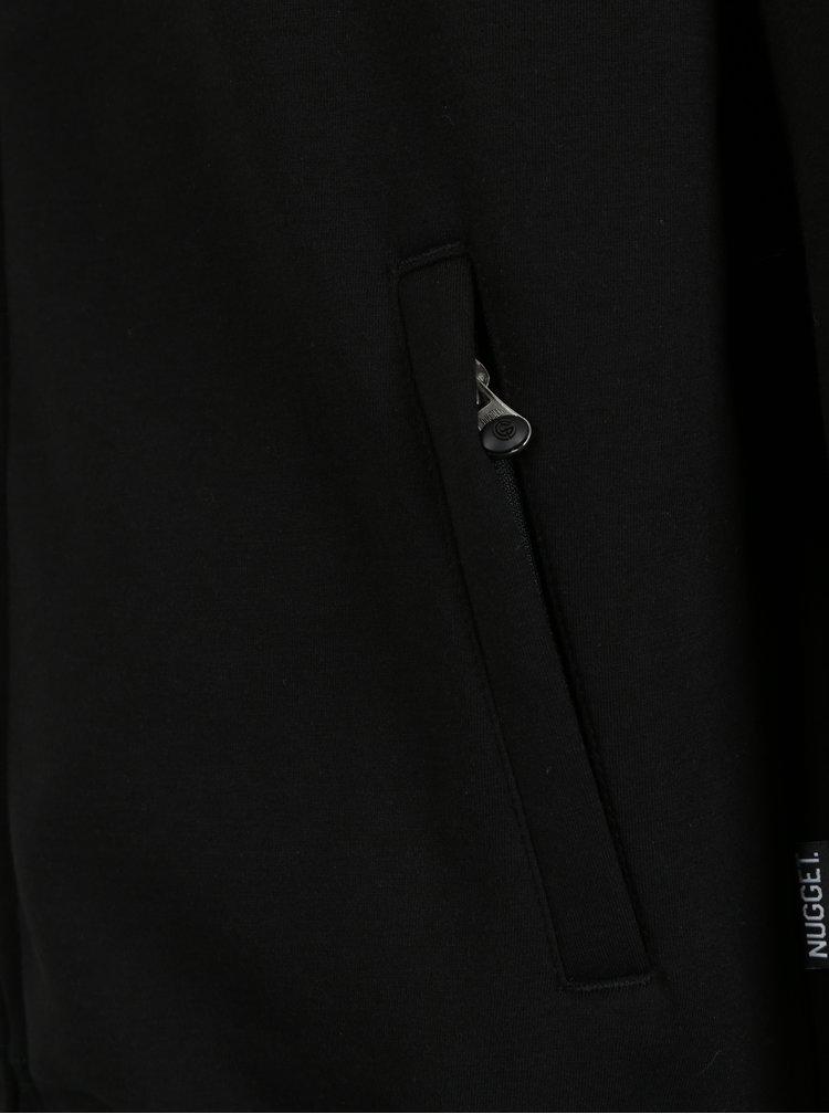 Šedo-černá pánská mikina s kapucí NUGGET Coil
