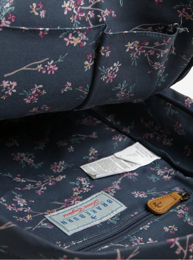 Rucsac albastru cu model floral Brakeburn