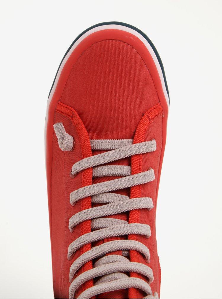 Červené dámské kotníkové tenisky Camper Wheel