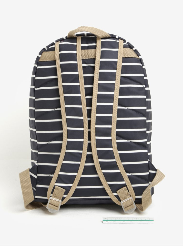 Bílo-modrý pruhovaný batoh Brakeburn